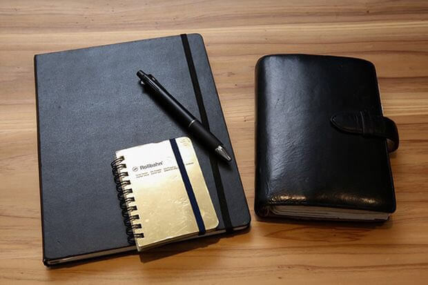 前田裕二さん愛用のノート、手帳、ペン