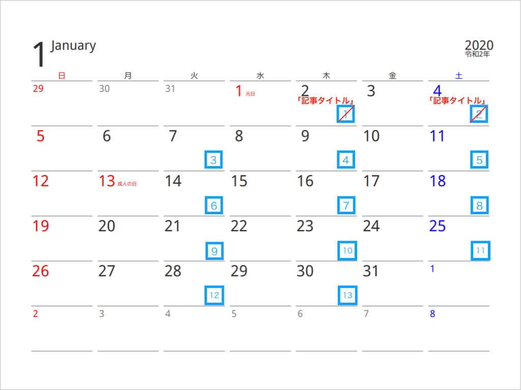 習慣化 カレンダー