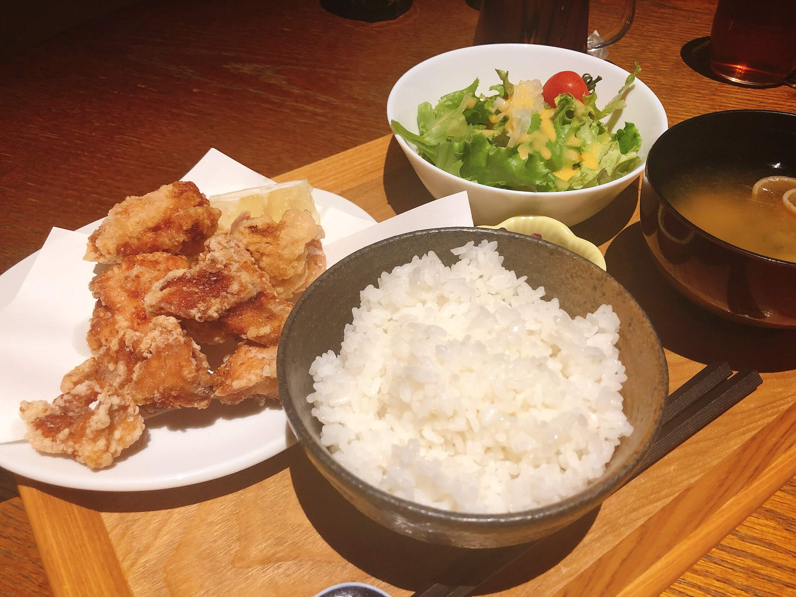 The Ryokan Tokyoの唐揚げ定食