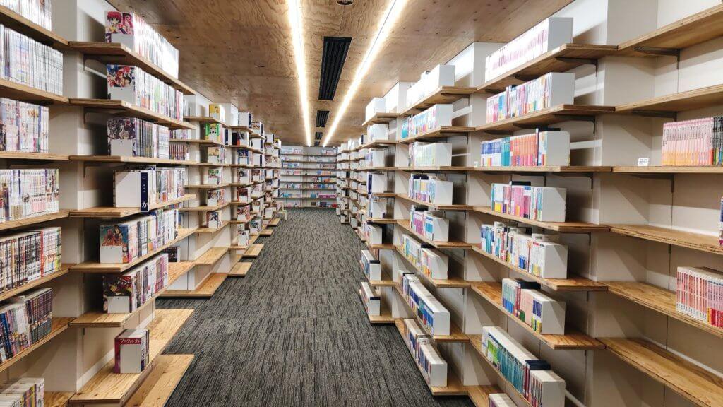 マンガ・ラノベ図書館の本棚